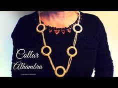 """Collar """"Alhambra"""" (ganchillo / crochet) - YouTube"""