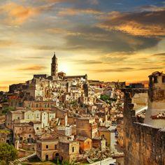 beautiful city of Matera in the Basilicata region