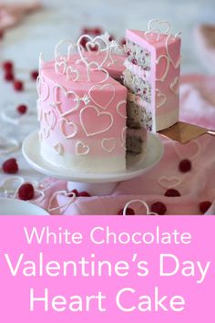 Valentine's Day Heart Cake From Preppy Kitchen, a moist and zingy raspberry cake filled with white chocolate buttercream and covered in a soft pink ombré of Italian meringue buttercream and dotted with delicate hearts. 40th Birthday Cake For Women, Unique Birthday Cakes, Pink Birthday Cakes, Homemade Birthday Cakes, Woman Birthday Cakes, Birthday Cake Ideas For Adults Women, Birthday Cakes Girls Kids, Heart Birthday Cake, Pink Cakes