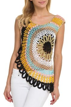 Velzera Katherine Crochet Top in Black - Beyond the Rack $21.99