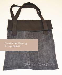 D.I.Y..... Como hacer un bolso de tejano ???... http://www.makeyourownfashion.com/2013/11/diy-como-hacer-un-bolso-de-tejano.html