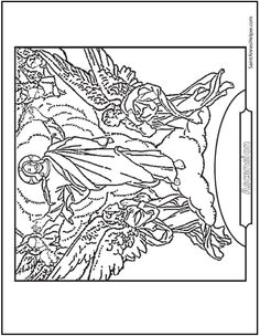 Stained Glass Coloring Page Of Jesus Church Window