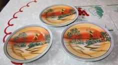 Vintage Lusterware Dessert Plate Trio of Dutch by FelicesFinds