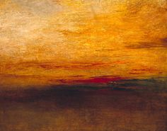 Joseph Mallord William Turner, 'Sunset' c.1830-5. (Many of Turner's paintings captured the extreme changes in the sky's colors that were drastically changed by the distant eruption of the volcano Krakatoa in Java, Indonesia.)