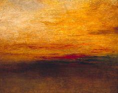 Sunset / J.M.W. Turner / c.1830-5 www.artexperiencenyc.com