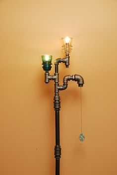 TRoweDesigns Online Gallery - TroweDesigns Online Gallery - Glass Insulator Steampunk Industrial Style Pipe Lamp