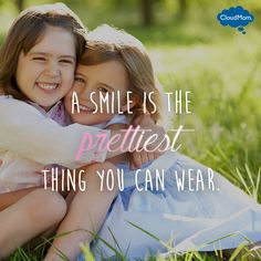 A smile is the prettiest thing you can wear. #quotes