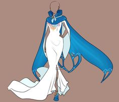"""Out-of-this-world fashion for Futura. Around the home or in elegant situations, long skirts with """"flow"""" accent the female's grace. (Fashion Adoptable Auction 13 - by Karijn-s-Basement on DeviantArt)"""