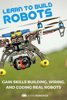 Develop an Arduino mobile robot in this DIY, Learn Robotics course. Design an arduino mobile robot, learn to code, and complete the robotics projects. Learn Robotics, Robotics Engineering, Robotics Projects, Robotics For Beginners, Electronics Projects For Beginners, Electronics Basics, Drones, Drone Technology, Technology Gadgets