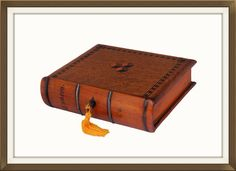 Antique Solid Oak Jewellery Box In Book Form  £165