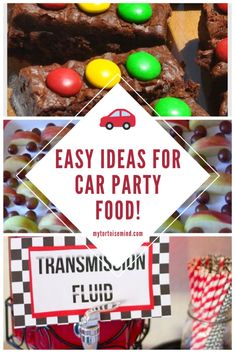 Get set, go! Here's 13 fun and easy car party foods for a children's car birthday party. Hot Wheels Party, Hot Wheels Birthday, Race Car Birthday, 1st Boy Birthday, Birthday Cakes, Auto Party, Car Party, Cars Party Foods, Party Food And Drinks
