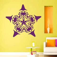 Hot Sale Mandalas Flowers Wall Stickers Mural Vinyl Yoga Indian Home Decoration Wall Sticker For Living Room Removable $11.45
