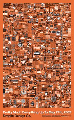 Flyer Goodness: The Pretty Much Everything Poster: A poster with almost anything and everything by Draplin Design