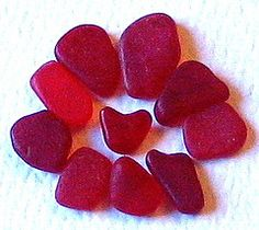 I have been looking for seaglass for years, I have 2 pieces of red glass. Very rare.