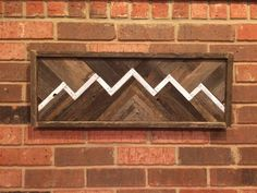Rustic Mountain Ridge Reclaimed Wood Wall Art