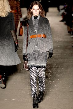 of course i liked rag and bone! interesting to see darker fall collection from them. kati n opened. lot of cool patterns, red, brown, dark, mix n match, belt... i sound dumb but im inspired and will research later