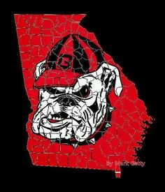 I Want To Find This As A Puzzle Or Make Like Uga BulldogGeorgia Bulldogs BaseballFootball