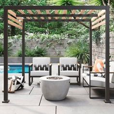 Pergola Ideas For Deck Key: 8499066095 Pergola D'angle, Black Pergola, Steel Pergola, Building A Pergola, Corner Pergola, Deck With Pergola, Cheap Pergola, Wooden Pergola, Covered Pergola
