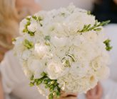 White Wedding Bouquet @Chelsea Armstrong look at this website and see all of the flowers they used