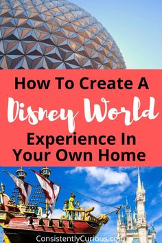 Create a Disney World Experience In Your Own Home. See how adding a little Disney magic can transform a homecation into something magical Disney Magic, Disney Day, Disney Cruise, Disney Parks, Disney Travel, Orlando Disney, Disney At Home, Disney Dinner, Best Vacations
