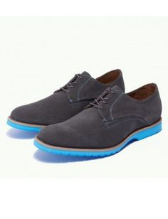 """These lace-ups from J. Fisk (the men's line from office obsession, Dolce Vita), are a cool new take on """"blue suede shoes. Lucky Magazine, Blue Suede Shoes, Fashion News, Fashion Trends, What To Wear, Cool Style, Oxford Shoes, Dress Shoes, Square Dance"""
