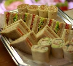 Buffet food-kids sandwiches/wraps - ham/cheese and egg