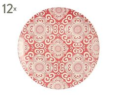 Set de 12 platos en porcelana Ethonc - Ø25 cm