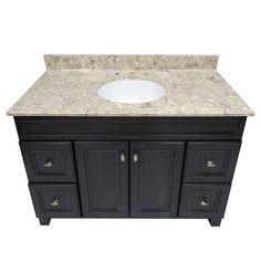 US Marble River Bottom Cultured Veined Granite Vanity Top.