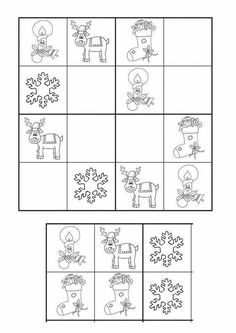 DIY Handmade: Świąteczne kolorowanki, ramki, karty pracy -  9 DIY Christmas Math, Christmas Activities For Kids, Winter Crafts For Kids, Christmas Crafts, Christmas Puzzle, Kindergarten Math Worksheets, Preschool Activities, Anterior Y Posterior, New Year Art