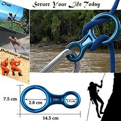 DidaDi 35 kn Big Figure 8 Descender Stainless Steel Rappel Gear Downhill Ring Equipment Rock Climbing Belaying Device for Outdoor Recreation or Search and Rescue professional, Strong Safe Durable Rock Climbing Gear, Climbing Rope, Mountain Climbing, Survival Skills, Survival Gear, Camping, Abseiling, Rappelling, Outdoor Store