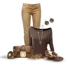 Leopard Leggs, created by chloe-813 on Polyvore