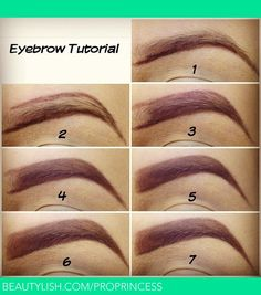"""Steps:  1) Outline the bottom with eyebrow pencil. 2) Outline the top. 3) Fill in leaving a little bit blank. 4) Using an angled brush fill in with brown eyeshadow. 5) Remove excess of product on your brush and brushing upwards gently fill in the blank spot for a """"natural look"""" 6) Using a concealer brush clean the edges with a little bit of concealer. 7) Blend in the concealer and you're done!"""