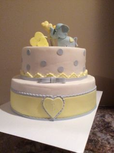 Baby shower cake we made this weekend