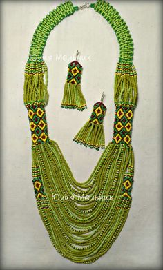 J Necklace, Seed Bead Necklace, Seed Beads, Bead Jewellery, Ethnic Jewelry, Beaded Jewelry, Bead Loom Designs, Peyote Beading, Hand Painted Furniture