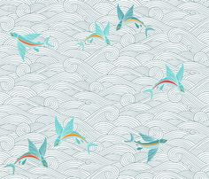 http://s3.amazonaws.com/spoonflower/public/design_thumbnails/0065/3684/rflying_fish_waves_highres.png