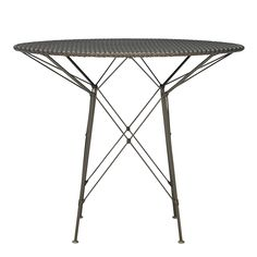 WHISK WOVEN TOP DINING TABLE ROUND 70 - JANUS et Cie