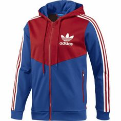 Track Top Adi Hooded Flock Uomo Adidas