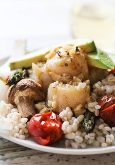 Grilled Scallops and Summer Vegetables