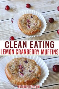 These are the lemon cranberry muffins you didn't know you needed! These lemon flavored bites of deliciousness are perfect for brunch with friends or as a grab and go breakfast. Packed with protein and clean eating approved! The shredded zucchini provides extra nutrition (perfect for kids too) and also helps to keeps the muffins moist when using denser flour! | Natural Deets @naturaldeets #cranberrymuffins #holidaymuffins #cleaneatingfallmuffins #fallbreakfastideas #cleaneating #naturaldeets