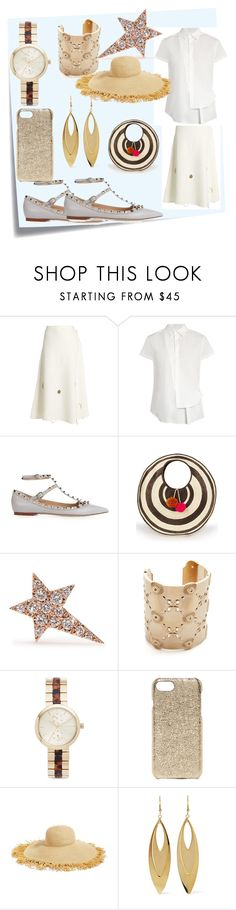 """""""set for amazing"""" by denisee-denisee ❤ liked on Polyvore featuring Post-It, Rosie Assoulin, Y's by Yohji Yamamoto, Valentino, Sophie Anderson, Diane Kordas, Oscar de la Renta, Michael Kors, Valenz Handmade and Eric Javits"""