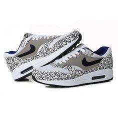 Nike Air Max 1 Mens Atmos Animal Camo Grey Leopard White Black Outlet Shop 1c68e514728
