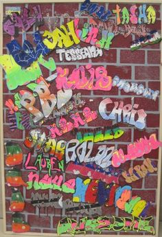 "Graffiti - Middle School Art - a good ""welcome back"" project for next year?"