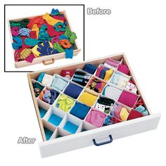 If I still had a dresser, I would buy these to organize all my socks and tights!