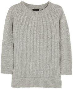 J.Crew Ribbed-knit alpaca-blend sweater on shopstyle.com