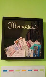 """Memories"" shadowbox...we need need multiple boxes for Hawks tix."