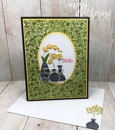 Stamps-N-Lingers. I put some beautiful new Varied Vases atop the Share What You Love Specialty DSP for this any-occasion card! For free instructions on how to make this card, please visit my blog at: https://stampsnlingers.com/2018/05/03/stampin-up-varied-vases-sneak-peek-for-the-happy-inkin-thursday-blog-hop/