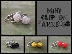 7mm+bud+Mini+Rose+clip+on+earrings+child+to+by+MysticElegance,+$0.20