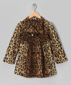 Dark Leopard Fleece Swing Coat - by Giovanni $13.99