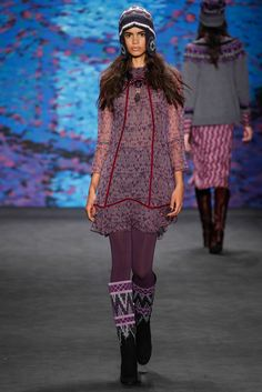And another one! Loving this collection -- hippie/Little House on the Prairie/70s/ski bum (Anna Sui F15 RTW)