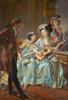 The Courtship. Louis-Rolland Trinquesse (French, 1745-1800).
